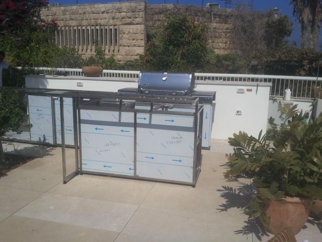 פרוייקט הקמת מטבח חוץ בשילוב בר